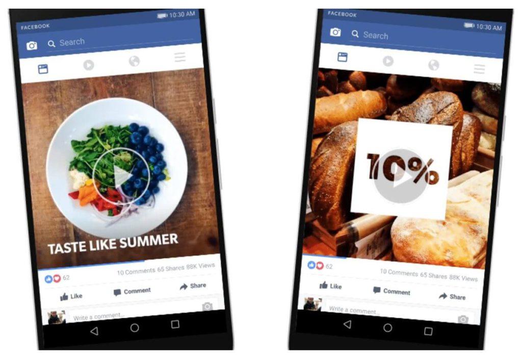 ejemplos de social ads en celular