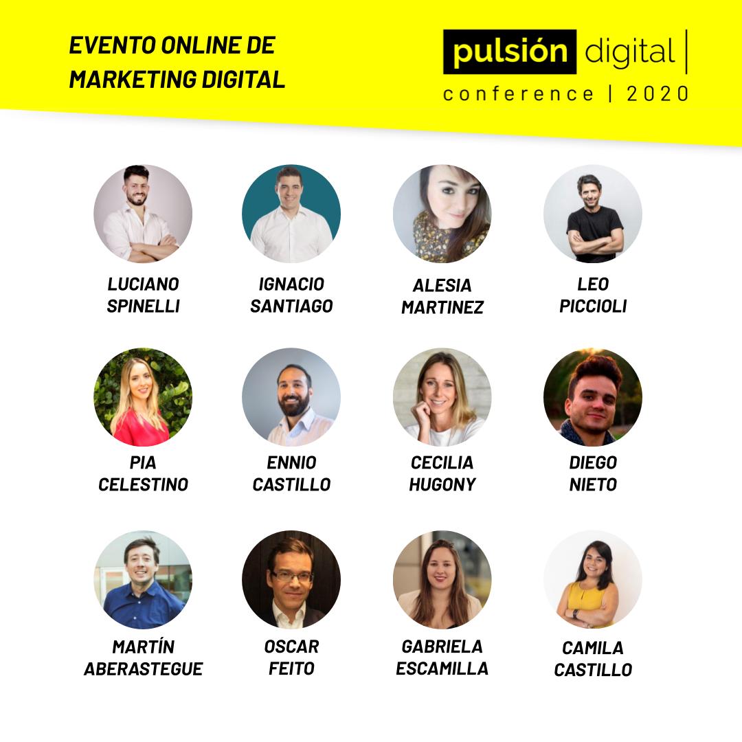 coferencistas Pulsión Digital Conference 2020