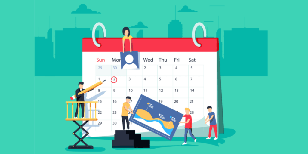 calendario de publicaciones para estrategia de redes sociales